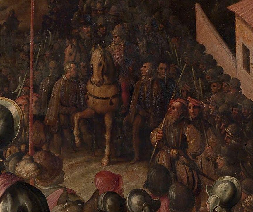 Jan van der Straet - The Triumph of the Siena War (detail)